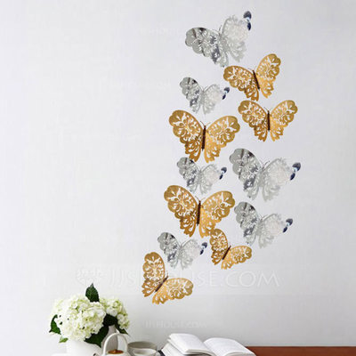 Butterfly Design Beautiful Card Paper Decorative Accessories (set of 12 packs)
