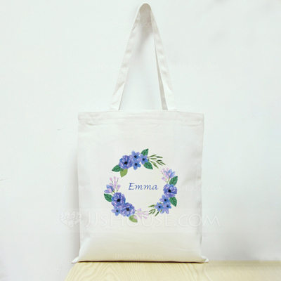 Bridesmaid Gifts - Personalized Beautiful Fashion Cotton Tote Bag