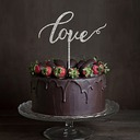 Love Design Acrylic Cake Topper