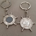 Personalized Anchor Design Stainless Steel/Zinc Alloy Keychains (Set of 4)