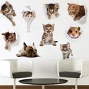 Creative DIY Removable Cartoon Cats Wallpaper Wall Sticker(set of 9)