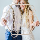 Simple/Classic Nice Wooden Wedding Sign (Sold in a single piece)