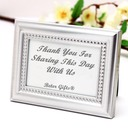 Beaded Photo Frame and Place card Holder Wedding Reception Favors(Silver)
