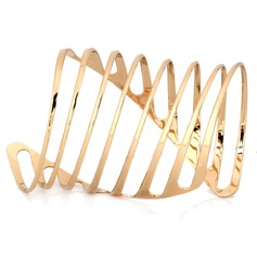 Unique Alloy Gold Plated Women's Fashion Bracelets