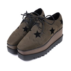 Women's Suede Flats Closed Toe With Lace-up Others shoes