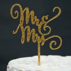 Mr & Mrs Akryl Kake Topper