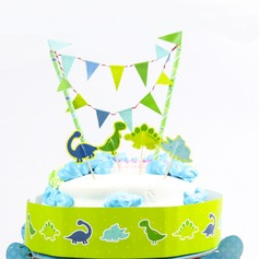 Dinosaur World Paper Cake Topper
