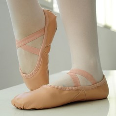Women's Real Leather Flats Ballet Dance Shoes