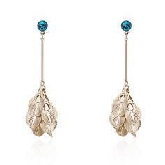 Shining Crystal Copper With Imitation Crystal Women's Fashion Earrings