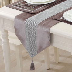 Chemin de table/Placez le tapis Velours (Lot de 5) Décorations de table