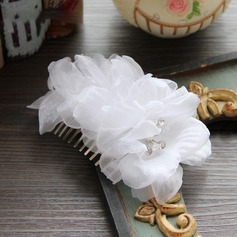 Ladies Simple Silk Flower Combs & Barrettes