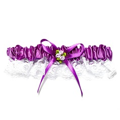 Amazing Lace With Ribbons Flower Wedding Garters