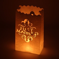 """Just Married"" Paper Luminary"