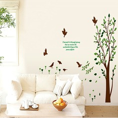 Tree and Birds PVC Wall Stickers