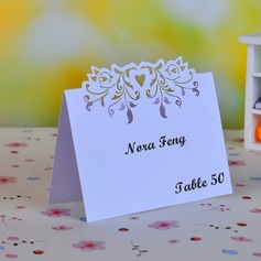 Flying Heart Pearl Paper Place Cards