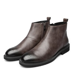 Men's Real Leather Brogue Chukka Casual Men's Boots
