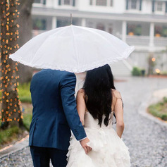 Gorgeous Terylene/Lace Wedding Umbrellas With Appliques