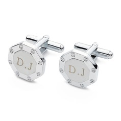 Personalized Octagonal Stainless Steel Cufflinks