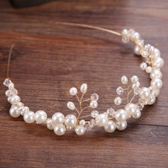 Ladies Elegant Alloy/Imitation Pearls Tiaras With Venetian Pearl