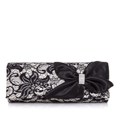 Gorgeous Nylon With Lace/Rhinestone Clutches