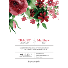Signature Circles Wedding Cards