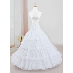 Women Tulle Netting/Polyester Floor-length 4 Tiers Petticoats