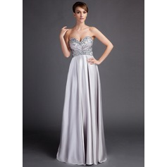 Empire Sweetheart Sweep Train Charmeuse Mother of the Bride Dress With Ruffle Beading