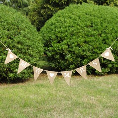 """Mr. & Mrs.""/Triangle Burlap Photo Booth Props/Banner"