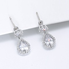 Gorgeous Zircon Copper Ladies' Fashion Earrings