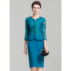 3/4-Length Sleeve Chiffon Lace Special Occasion Wrap