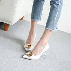 Women's Satin Stiletto Heel Pumps Closed Toe With Others shoes