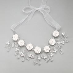 Shining Alloy/Ceramic With Crystal/Imitation Pearls Ladies' Necklaces