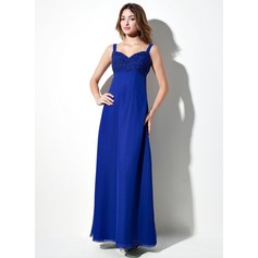 Empire Sweetheart Floor-Length Chiffon Bridesmaid Dress With Lace Beading