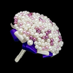 Eye-catching Round Venetian Pearl/Imitation Pearl Bridal Bouquets -