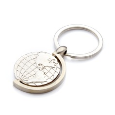 Personalized Globes Stainless Steel Keychains