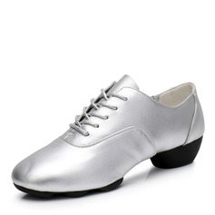 Women's Real Leather Sneakers Modern Jazz Sneakers Ballroom Dance Shoes