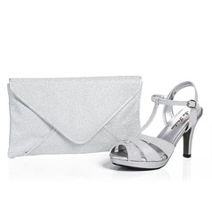 Elegant Shiny Material Shoes & Matching Bags