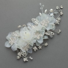 Fashion Alloy/Artificial Silk Flowers & Feathers