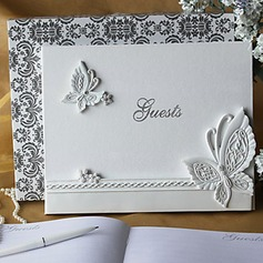 Butterfly Design Rhinestones Guestbook (101018156)