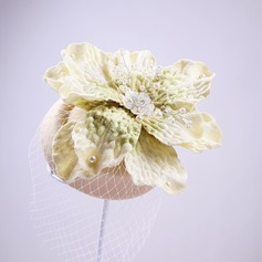 Ladies Elegant Imitation Pearls/Artificial Silk/Tulle Hats