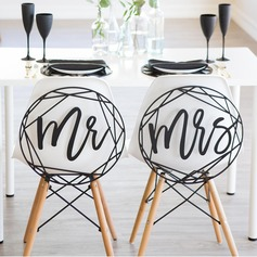 """Mr. & Mrs."" Elegante Legno Wedding Sign"