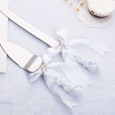 Classic Theme Serving Sets With Ribbons/Rhinestone