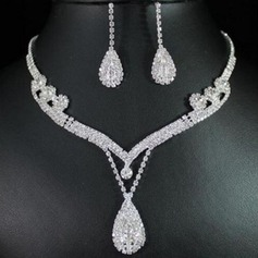 Gorgeous Alloy Rhinestones With Rhinestone Ladies' Jewelry Sets