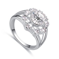 Fashional Alloy/Crystal With Crystal Rings