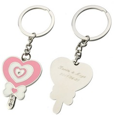 Personalized Heart design Zinc Alloy Keychains