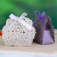Butterfly Theme Favor Boxes With Ribbons