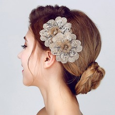 Fashion Lace/Sequin Flowers & Feathers (Sold in single piece)