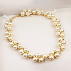 Beautiful Alloy Imitation Pearls With Imitation Pearl Ladies' Fashion Necklace