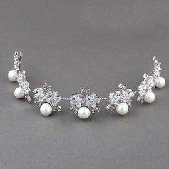 Amazing Natural Shell/Zircon Tiaras