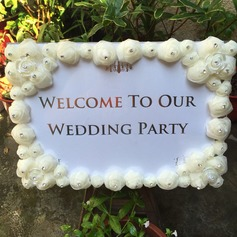Delicate Rhinestone/Organza Delicate Wedding Sign